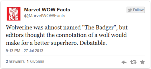twitter honey badger wolverine - 7737361152