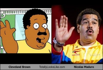 nicolas maduro,cleveland brown,totally looks like,funny