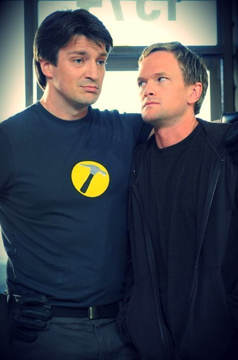 nathan fillion,nph,captain hammer,doctor horrible,Neil Patrick Harris