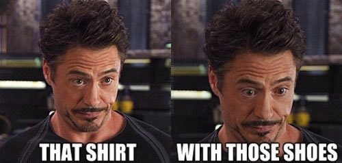 shoes robert downey jr shirt - 7740260096