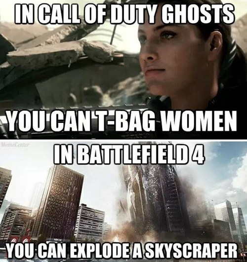 call of duty call of duty ghosts Battlefield 4 t-bag - 7740499968