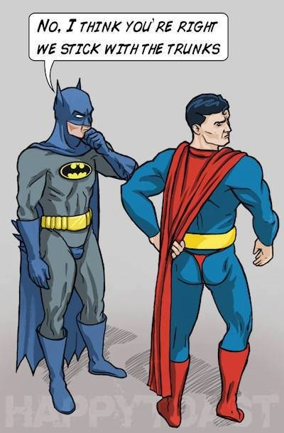 Fan Art underpants superbatman batman superman - 7740550144