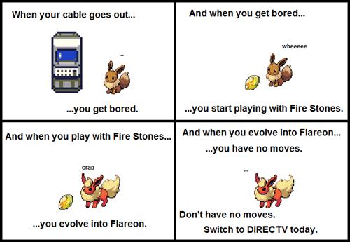 Pokémon,eevee,flareon,directv
