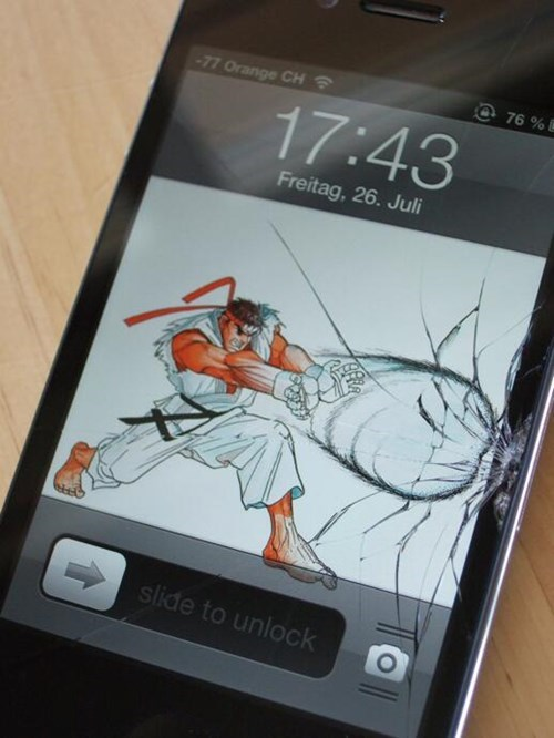 hadouken cell phone there I fixed it funny