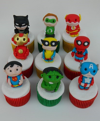 marvel DC cute cupcakes superheroes noms - 7740801280