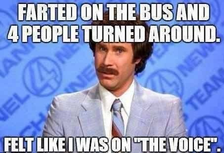 the voice,public transportation,anchorman