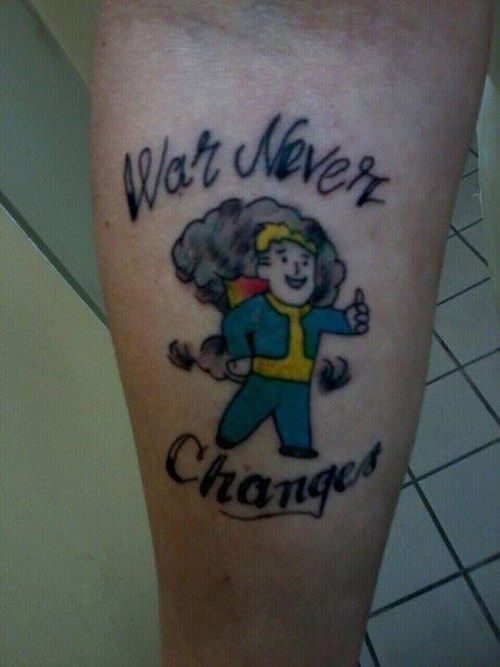 fallout,tattoos,funny,g rated,Ugliest Tattoos