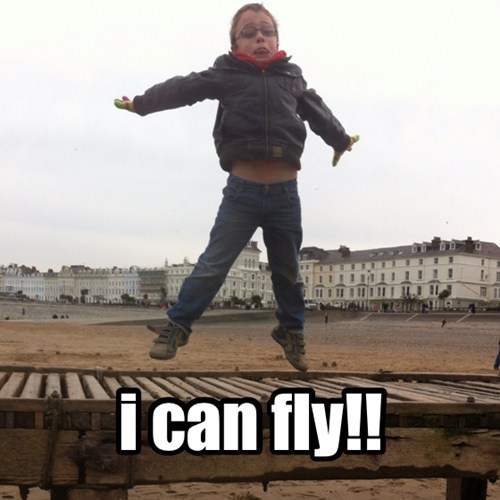 kids,parenting,i can fly,funny