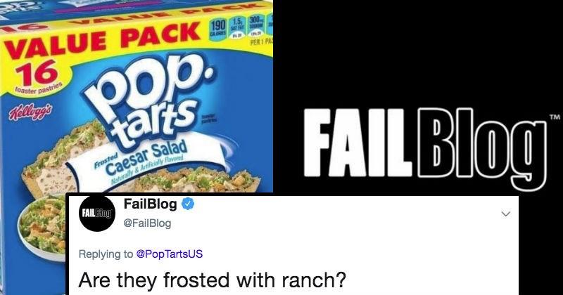 pop tarts twitter FAIL cringe ridiculous food funny stupid salad - 7741701