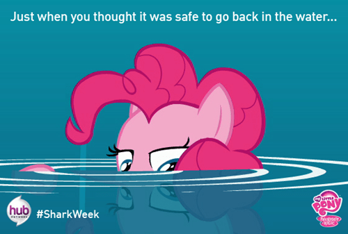 the hub pinkie pie shark week - 7742357248