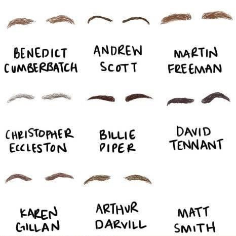 eyebrows,bilbo,the doctor,Sherlock