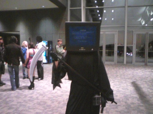 cosplay,blue screen,grim reaper,bsod,poorly dressed,g rated