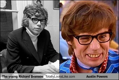 Richard Branson totally looks like austin powers funny