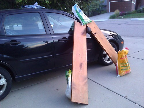 cars,funny,wood planks,there I fixed it