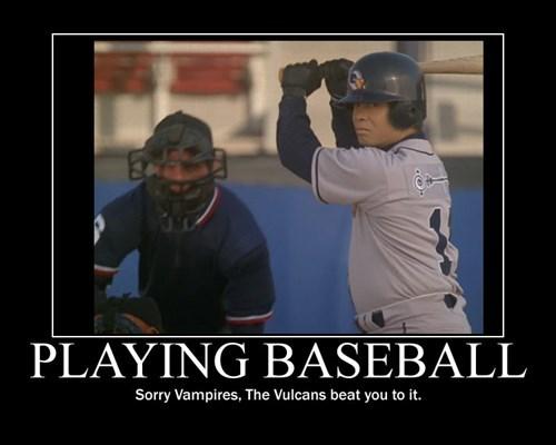 Vulcans,baseball,vampires,Star Trek,funny