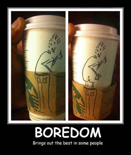 drawing Starbucks coffee bored funny - 7742586880
