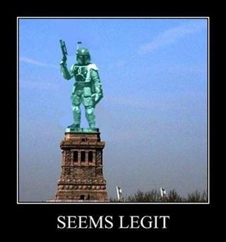 statue funny boba fett seems legit - 7742625792