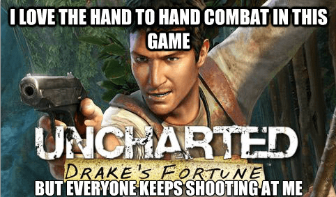 uncharted,hand to hand combat