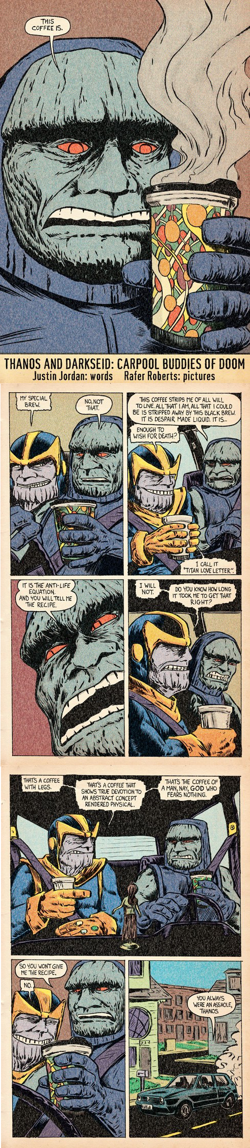 thanos off the page darkseid superheroes - 7742703872