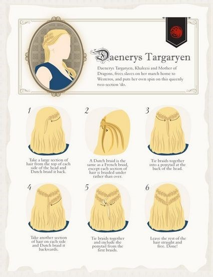 hair fashion Game of Thrones DIY hairstyles - 7742743808
