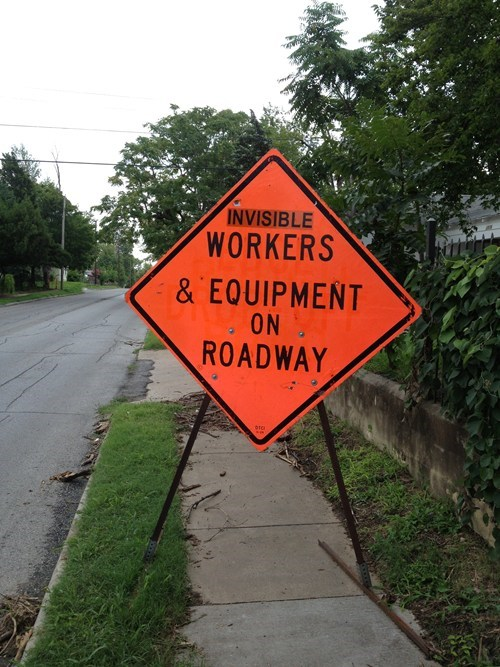 road work road signs funny there I fixed it - 7742860544