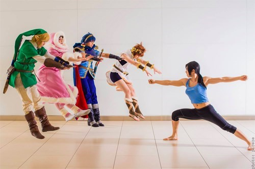 cosplay hadoukening super smash bros hadokening wii fit trainer - 7742879488