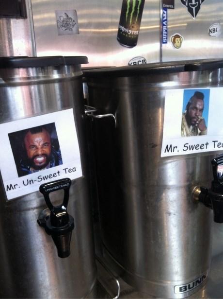 sweet tea,puns,mr t,funny