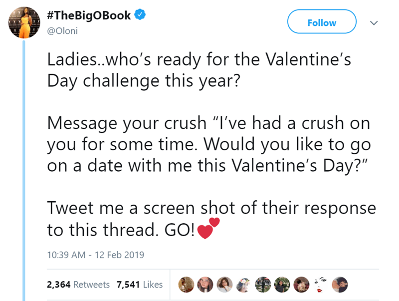 date challenge funny tweets crush blogger Valentines day - 7742981
