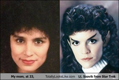 moms,totally looks like,Star Trek,funny,lt-saavik