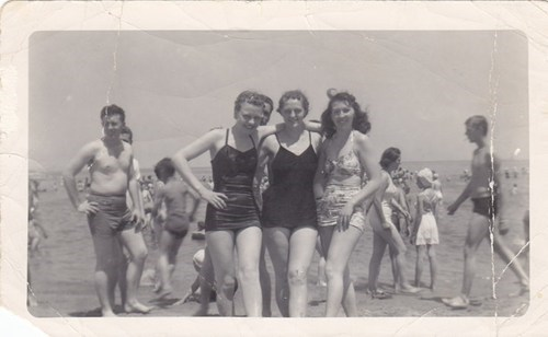 My Mom, Hazel, at a Chicago beach in the 1940s.