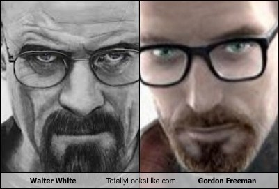 breaking bad walter white totally looks like half-life 2 gordon freeman - 7745140736