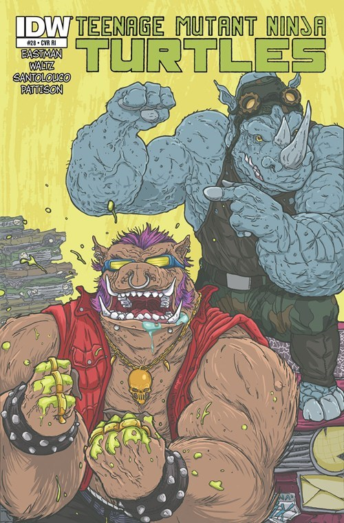TMNT off the page rocksteady bebop