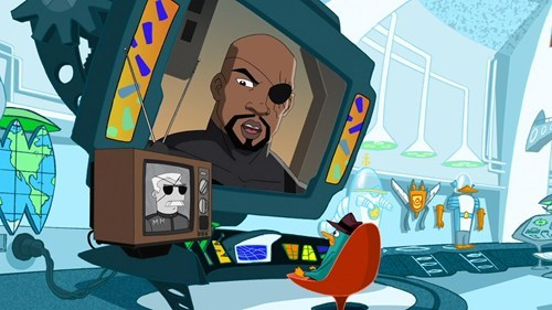 Nick Fury cartoons phineas and ferb - 7745246464