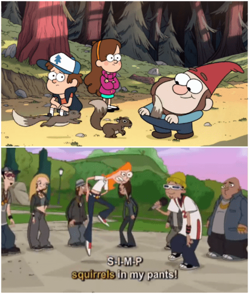 simp gravity falls squirrels phineas and ferb - 7745324544