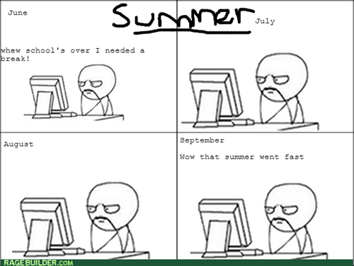 summer break computer guy summer vacation vacation