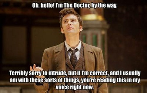 my voice,10th doctor,doctor who