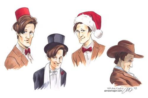 Fan Art hats 11th Doctor doctor who - 7745876480