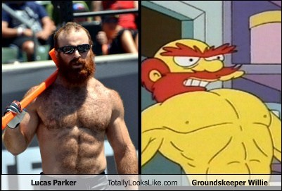 lucas parker,groundskeeper willie,totally looks like,simpsons,funny