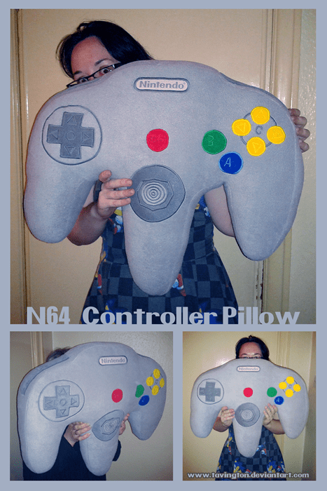 n64,pillows,DIY,video games
