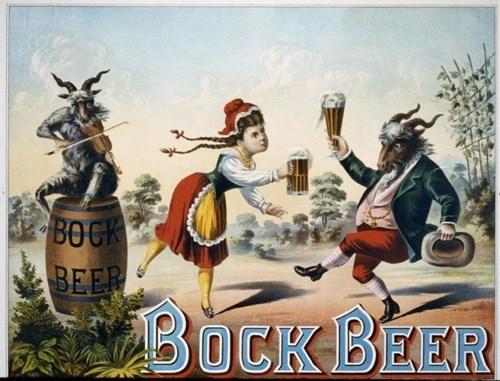 beer bock advertisements