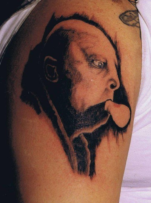 uncle fester lightbulbs tattoos funny - 7746642432