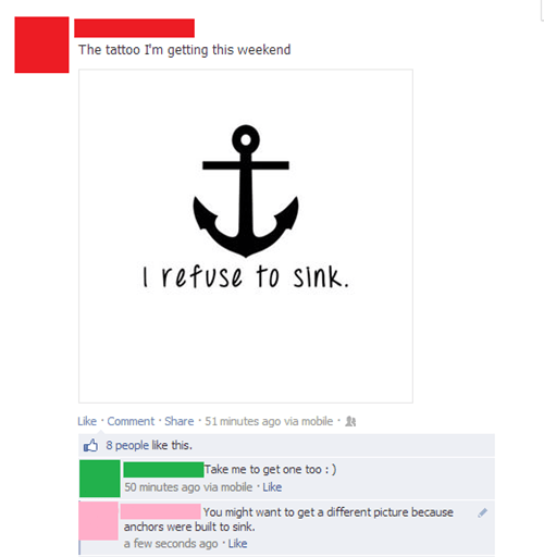 tattoos i refuse to sink anchors failbook g rated - 7746918400