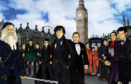 crossover Harry Potter Fan Art doctor who Sherlock - 7746995456