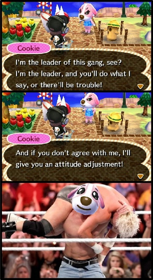 animal crossing,wrestling