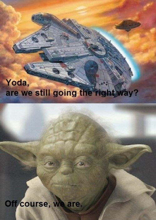 Millenium Falcon grammar star wars yoda - 7748273920