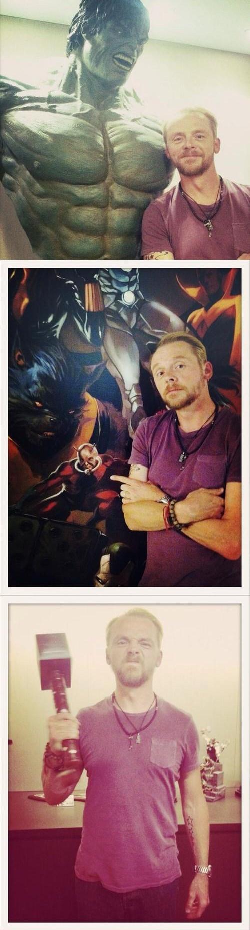 twitter marvel Simon Pegg ant man hulk - 7748325376