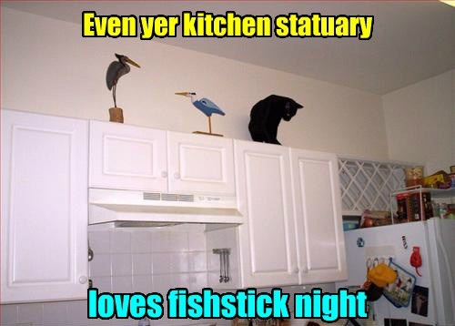 fishsticks,kitchen,statuary,funny