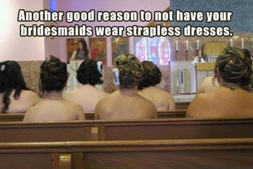 strapless bridesmaids wedding