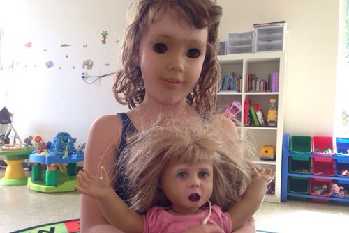 yikes wtf dolls face swap funny - 7748750848