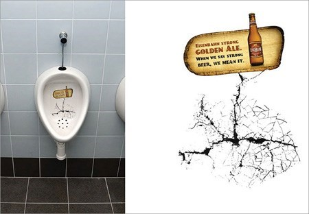 beer urinal advertisements funny